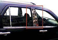 Honda CRV 2001-2006 гг. Молдинг дверных стоек (6 шт, нерж.)