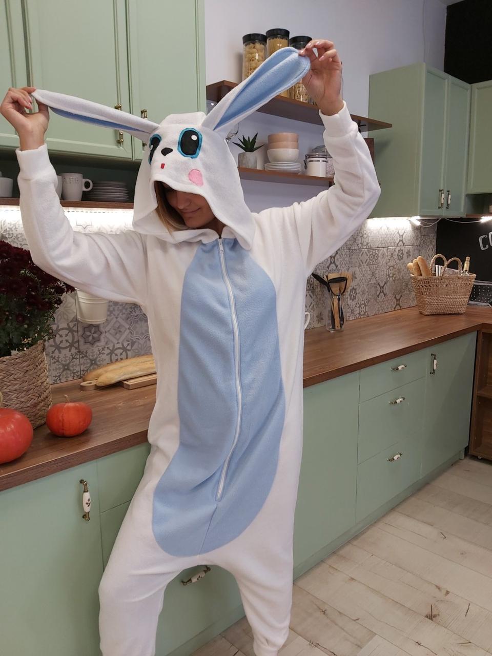Пижама Кигуруми Заец есть все размеры Украинское производство Размер 110-128 см