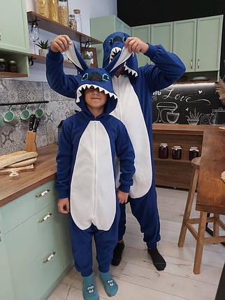 Пижама Кигуруми Стич для всей семьи Украинского производства Размер 181-200+ см, фото 2