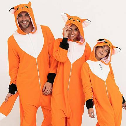 Пижама Кигуруми лисица для всей семьи от Украинского производителя Размер 181-200+ см, фото 2