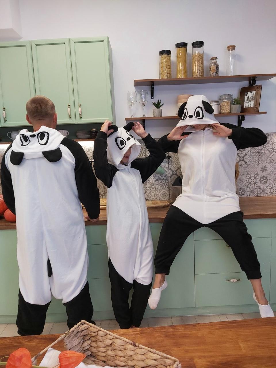 Пижама кигуруми панда украинского производства для детей и взрослых Размер 181-200+ см