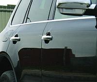 Volkswagen Touareg 2002-2010 гг. Накладки на ручки (4 шт, нерж) Без чипа, OmsaLine - Итальянская нержавейка