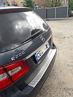 Mercedes E-klass W212 Накладка на задний бампер OmsaLine (SW, нерж)