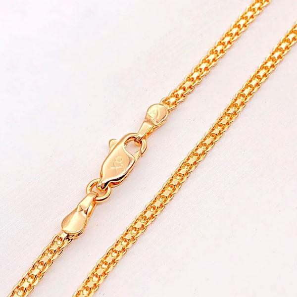 Цепочка Xuping Jewelry 45 см х 2 мм Итальянский Бисмарк медицинское золото позолота 18К А/В 3-0170