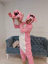 Пижама Кигуруми розовый Стич для всей семьи Украинского производства Размер 181-200+ см