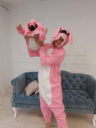 Пижама Кигуруми розовый Стич для всей семьи Украинского производства Размер 134-152 см, фото 2
