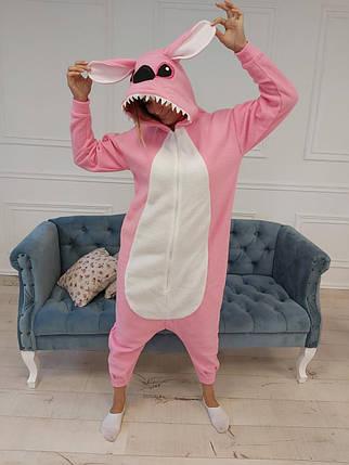 Пижама Кигуруми розовый Стич для всей семьи Украинского производства Размер 155-180 см, фото 2