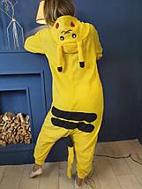Пижама Кигуруми Пикачу покемон для взрослых и детей Размер 110-128 см, фото 2