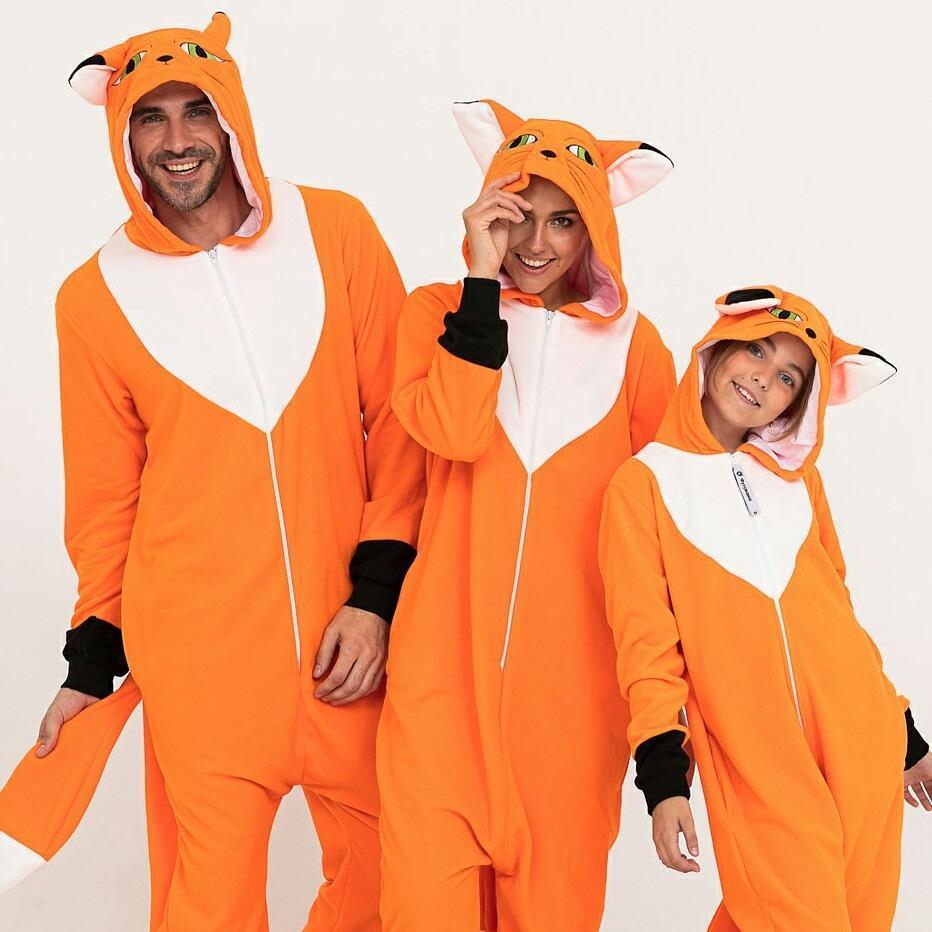 Пижама Кигуруми лисица для всей семьи от Украинского производителя Размер 110-128 см
