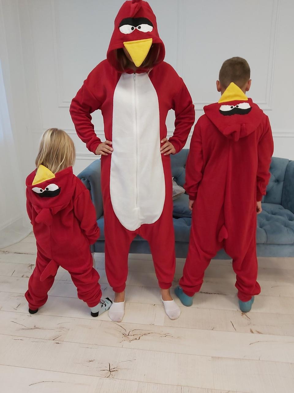 Пижама Кигуруми Angry Birds для детей и взрослых Размер 134-152 см