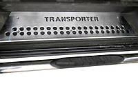 Volkswagen T5 Transporter 2003-2010 гг. Накладки на внутренние пороги 4 двери, OmsaLine - Итальянская, фото 1
