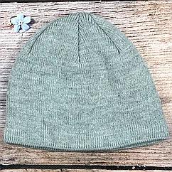 Мужская вязанная шапка с флисом (5 шт)