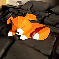 """3д модель """"Лисичка"""" из бумаги для детского творчества Papercraft набор паперкрафт украшение интерьера"""