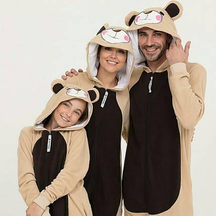 Пижама Кигуруми Медведь для всей семьи от Украинского производителя Размер 155-180 см, фото 2