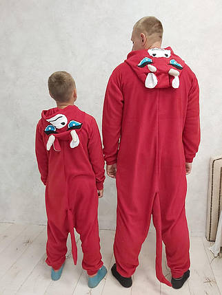 Пижама Кигуруми Бык для всей семьи Размер 155-180 см, фото 2