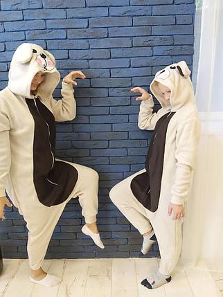 Пижама Кигуруми Медведь для детей и взрослых от Украинского производителя Размер 181-200+ см, фото 2