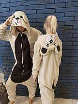 Пижама Кигуруми Медведь для детей и взрослых от Украинского производителя Размер 181-200+ см, фото 3
