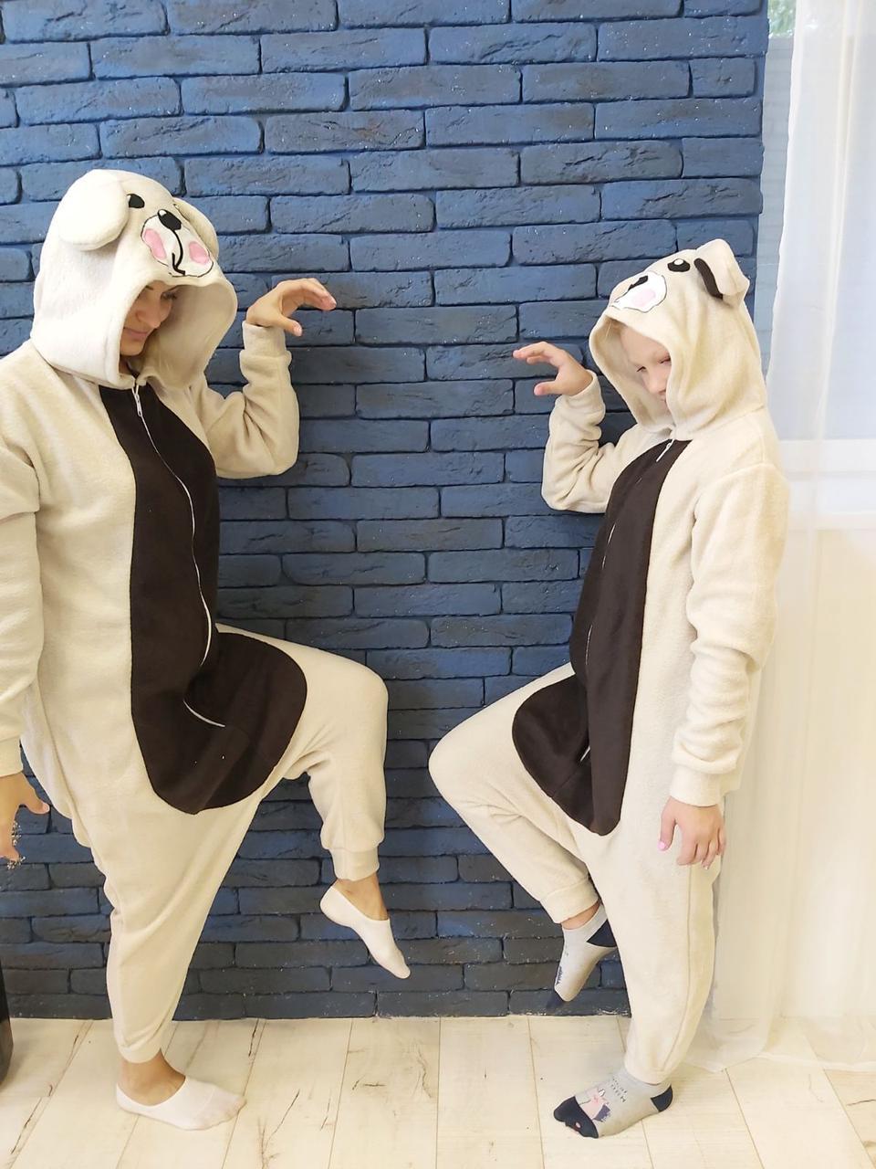 Пижама Кигуруми Медведь для детей и взрослых от Украинского производителя Размер 110-128 см