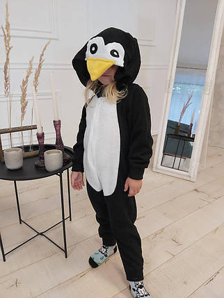 Пижама Кигуруми пингвин для всей семьи Украина Размер 134-152 см, фото 2