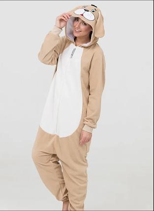 Пижама Кигуруми Песик для детей и взрослых от Украинского производителя Размер 181-200+ см, фото 2