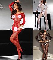Эротическое белье. Сексуальный комплект Эротический боди-комбинезон Passion ( 42 размер размер S), фото 1