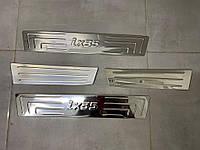 Hyundai IX-35 2010-2015 гг. Накладки на пороги Omsa (4 шт, нерж), фото 1