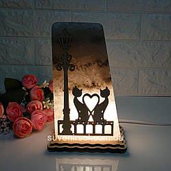 Соляной светильник Фонарь и Коты