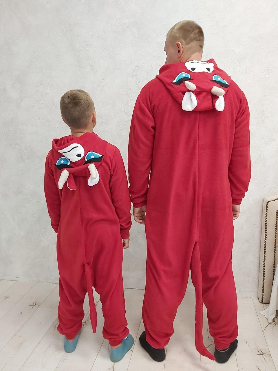 Пижама Кигуруми Бык для всей семьи Размер 110-128 см