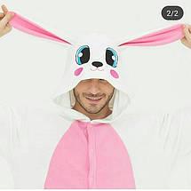 Пижама Кигуруми белый заяц для всей семьи Украинское производство, фото 2