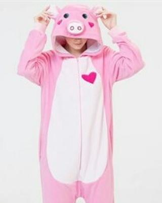 Пижама Кигуруми Поросенок для маленьких и больших