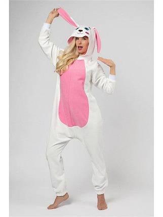 Пижама Кигуруми белый заяц для всей семьи Украинское производство Размер 110-128 см, фото 2