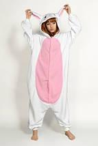 Пижама Кигуруми белый заяц для всей семьи Украинское производство Размер 134-152 см, фото 3