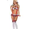 Эротическое белье Сексуальное боди Для ролевых игр Игровой костюм Школьница ( размер 46  размер M )