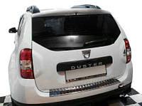 Renault Duster 2008-2017 гг. Накладка на задний бампер OmsaLine с загибом (нерж.)