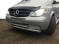 Mercedes Viano 2004-2015 гг. Губа нижняя двойная ST014 (нерж) 60/48мм, фото 1