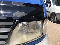 Mercedes Vito W638 1996-2003 гг. Реснички (черные) Черный глянец