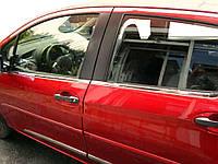 Toyota Yaris 2012↗ гг. Окантовка стекол (4 шт, нерж.)