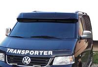 Volkswagen T5 Transporter 2003-2010 гг. Козырек на лобовое стекло (черный глянец, 5мм)