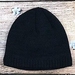 """Тёмно синяя мужская шапка """"Резинка"""" (5 шт)"""