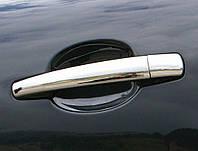 Peugeot 208 Накладки на ручки (нерж) 4 штуки. OmsaLine - Итальянская нержавейка