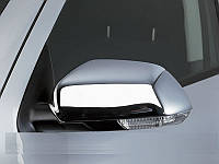 Skoda Octavia A5 2006-2010 гг. Накладки на зеркала (2 шт, нерж) Carmos - Турецкая сталь