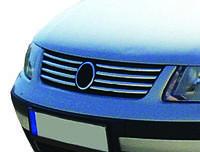 Volkswagen Passat B5 1997-2005 гг. Накладки на решетку (нерж) 2001-2005 год, Carmos - Турецкая сталь