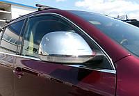 Volkswagen Touareg 2002-2010 гг. Накладки на зеркала 2007-2010 ( 2 шт, нерж) Carmos - Турецкая сталь