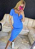 Женское платье футляр миди в рубчик на кнопках, фото 6