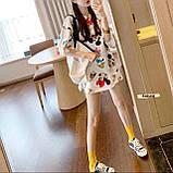 Женская модная футболка туника с мульт принтами микки маус дональд дак, фото 4
