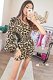 Женское платье с одним рукавом леопард, фото 2