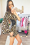 Женское платье с одним рукавом леопард, фото 3