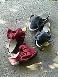 Женские слипоны с бантами из шерсти, фото 6