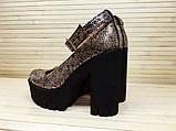 Туфли на толстом каблуке натуральная замша, фото 3