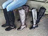 Женские Шикарные высокие сапоги натуральная замша или натуральная кожа,, фото 10